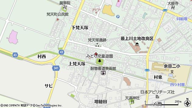 山形県東田川郡庄内町余目梵天塚121周辺の地図