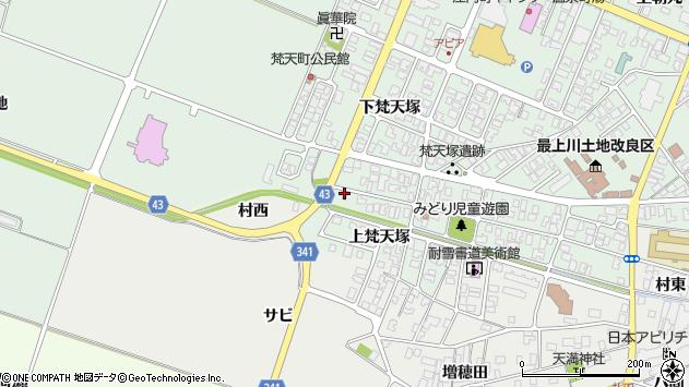 山形県東田川郡庄内町余目梵天塚176周辺の地図