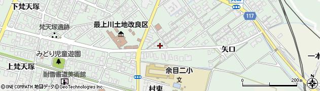 山形県東田川郡庄内町余目矢口108周辺の地図