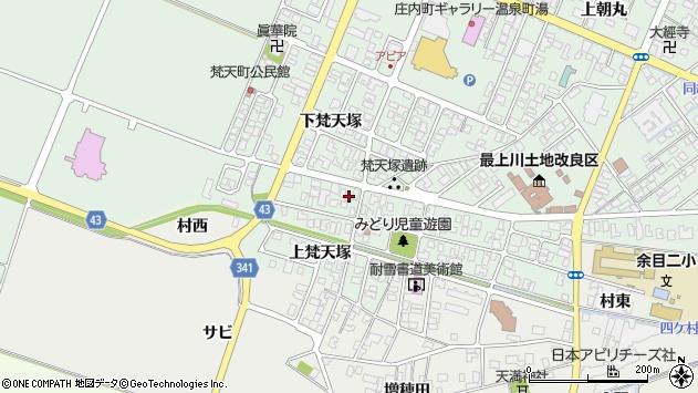 山形県東田川郡庄内町余目梵天塚144周辺の地図