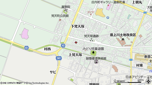 山形県東田川郡庄内町余目梵天塚149周辺の地図