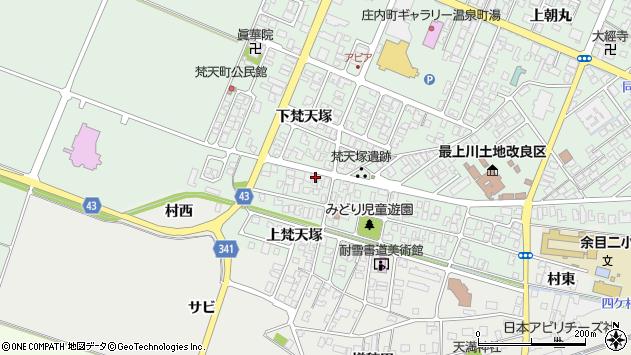 山形県東田川郡庄内町余目梵天塚146周辺の地図