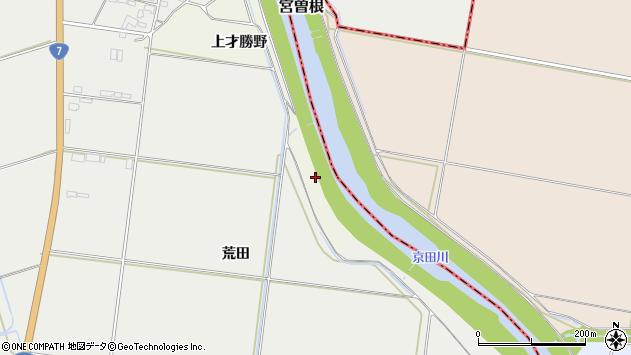 山形県酒田市福岡上才勝野周辺の地図