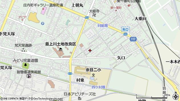 山形県東田川郡庄内町余目矢口103周辺の地図