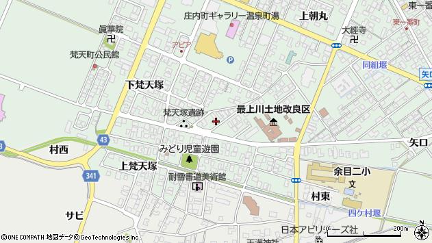 山形県東田川郡庄内町余目上梵天塚26周辺の地図