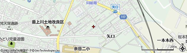 山形県東田川郡庄内町余目矢口86周辺の地図