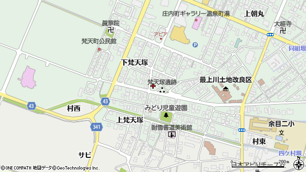 山形県東田川郡庄内町余目下梵天塚15周辺の地図