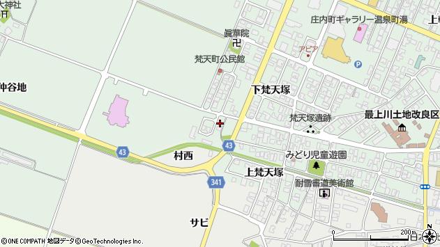 山形県東田川郡庄内町余目仲谷地27周辺の地図