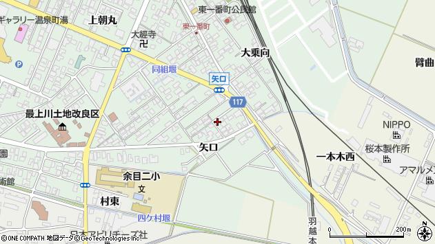 山形県東田川郡庄内町余目矢口68周辺の地図