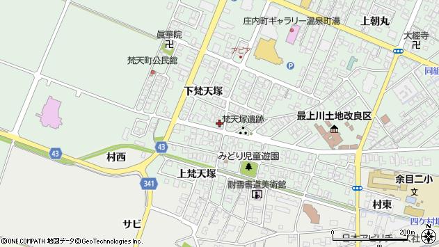 山形県東田川郡庄内町余目下梵天塚13周辺の地図