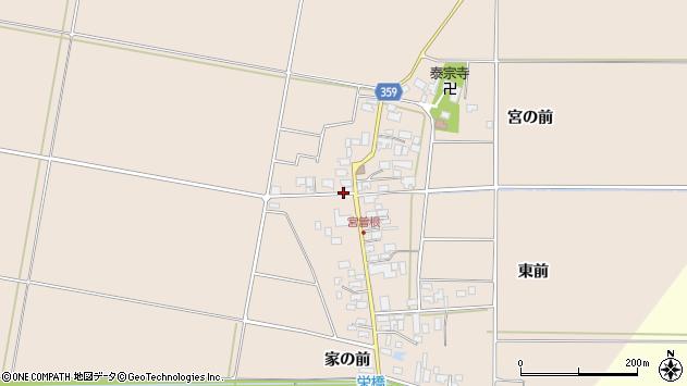 山形県東田川郡庄内町宮曽根宮の前43周辺の地図