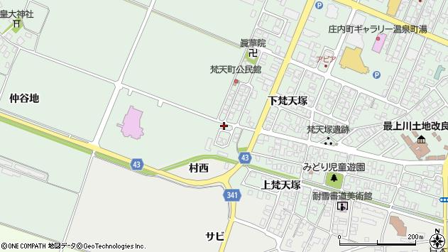 山形県東田川郡庄内町余目仲谷地25周辺の地図