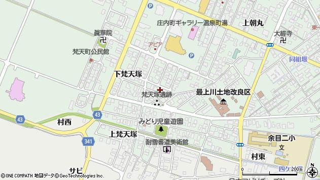山形県東田川郡庄内町余目下梵天塚18周辺の地図