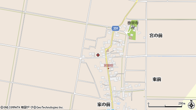 山形県東田川郡庄内町宮曽根宮の前45周辺の地図