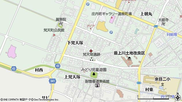 山形県東田川郡庄内町余目下梵天塚16周辺の地図