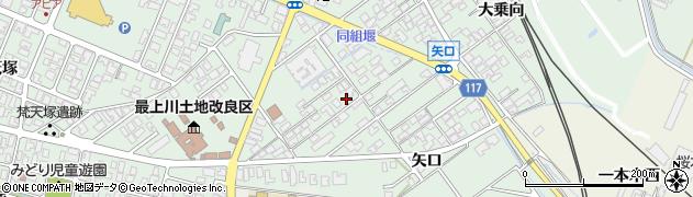 山形県東田川郡庄内町余目矢口88周辺の地図