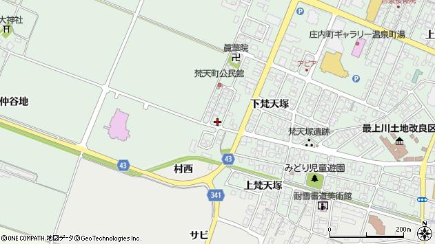 山形県東田川郡庄内町余目下梵天塚49周辺の地図