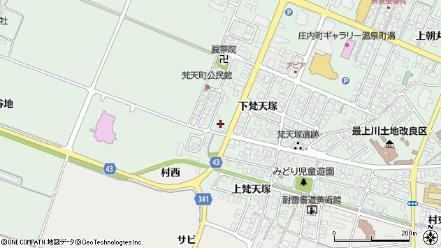 山形県東田川郡庄内町余目下梵天塚82周辺の地図