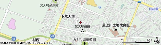 山形県東田川郡庄内町余目下梵天塚14周辺の地図