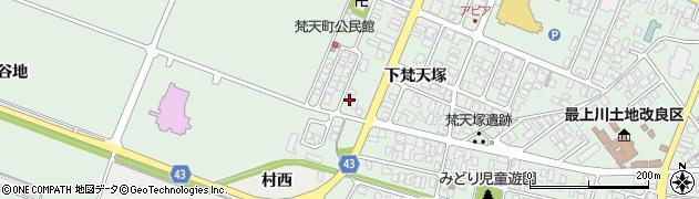 山形県東田川郡庄内町余目下梵天塚80周辺の地図