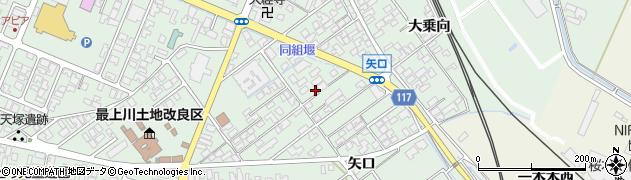 山形県東田川郡庄内町余目矢口77周辺の地図