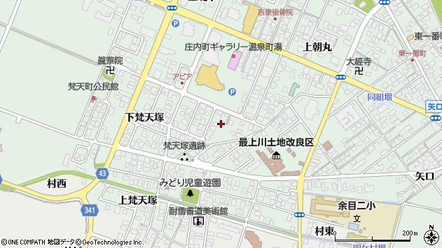 山形県東田川郡庄内町余目上朝丸87周辺の地図