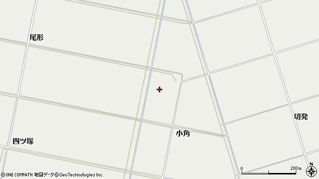 山形県酒田市広野小角周辺の地図
