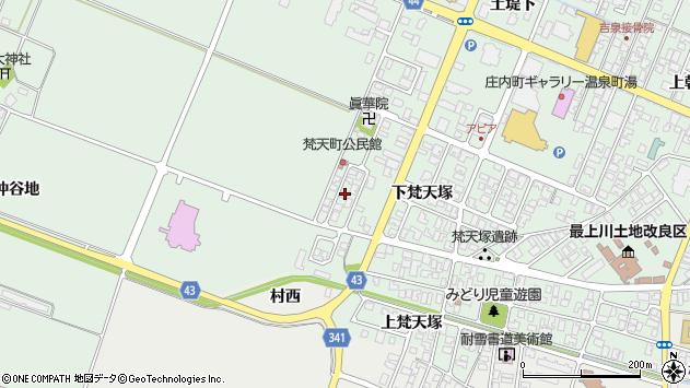 山形県東田川郡庄内町余目下梵天塚78周辺の地図