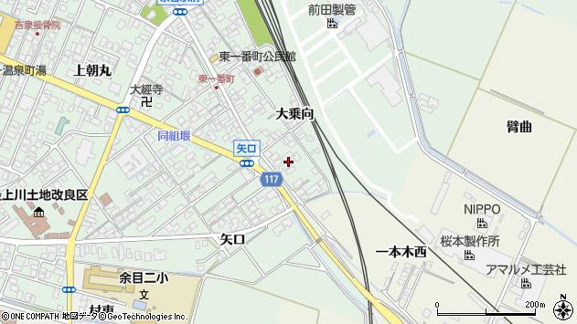 山形県東田川郡庄内町余目大乗向72周辺の地図