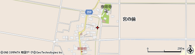 山形県東田川郡庄内町宮曽根宮の前54周辺の地図