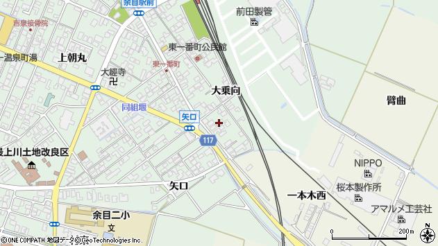 山形県東田川郡庄内町余目大乗向71周辺の地図