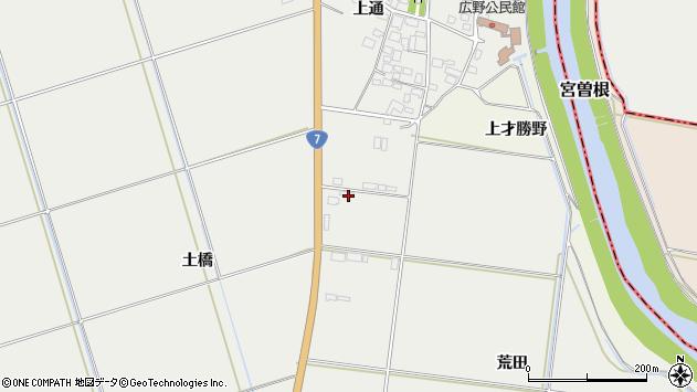 山形県酒田市広野荒田周辺の地図