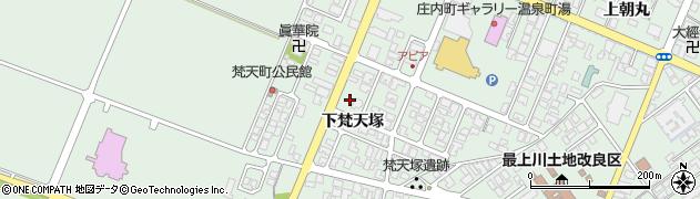 山形県東田川郡庄内町余目下梵天塚41周辺の地図