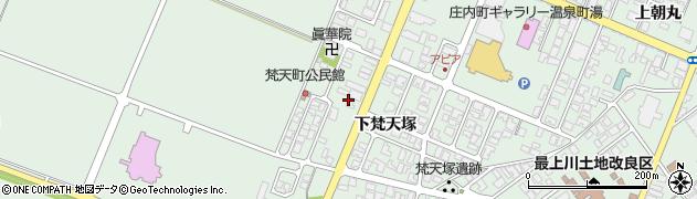 山形県東田川郡庄内町余目下梵天塚46周辺の地図