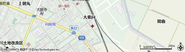 山形県東田川郡庄内町余目大乗向54周辺の地図
