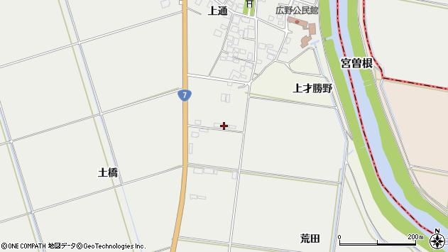 山形県酒田市広野上通61周辺の地図