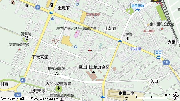 山形県東田川郡庄内町余目上朝丸81周辺の地図