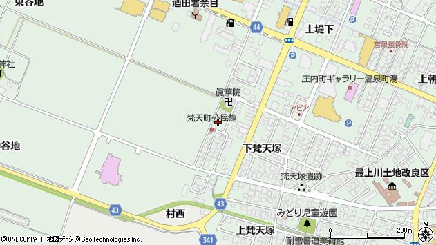 山形県東田川郡庄内町余目下梵天塚57周辺の地図