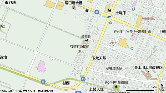 山形県東田川郡庄内町余目下梵天塚56周辺の地図