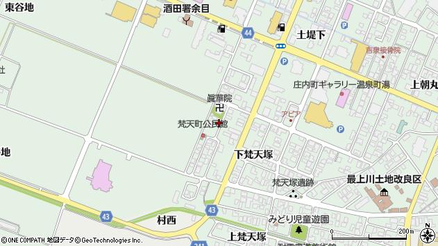 山形県東田川郡庄内町余目下梵天塚55周辺の地図