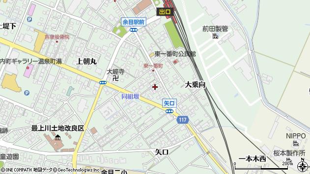 山形県東田川郡庄内町余目上朝丸13周辺の地図