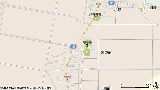 山形県東田川郡庄内町宮曽根宮の前74周辺の地図