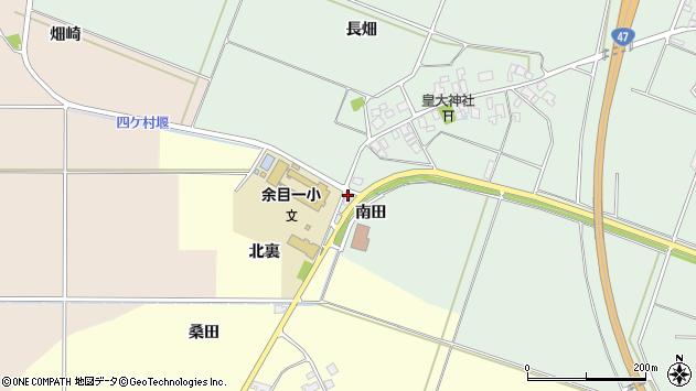 山形県東田川郡庄内町余目南田周辺の地図