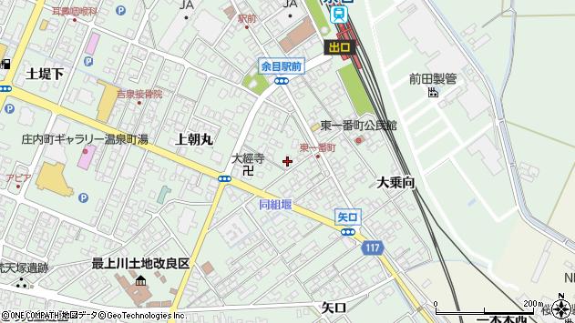 山形県東田川郡庄内町余目上朝丸34周辺の地図
