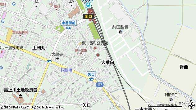山形県東田川郡庄内町余目東一番町周辺の地図