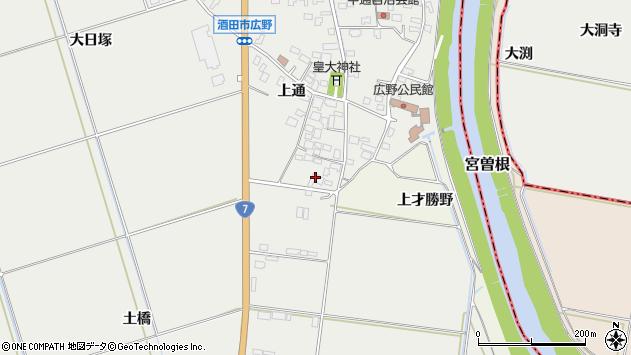 山形県酒田市広野上通82周辺の地図