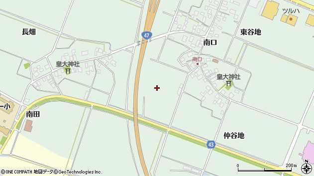 山形県東田川郡庄内町余目上神田周辺の地図