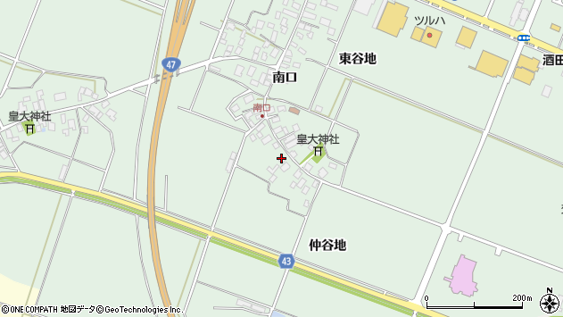 山形県東田川郡庄内町余目南口24周辺の地図