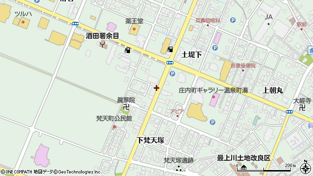 山形県東田川郡庄内町余目土堤下45周辺の地図