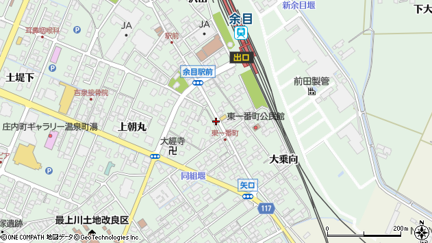 山形県東田川郡庄内町余目沢田269周辺の地図